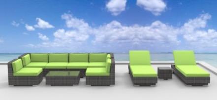 10a-ibiza-green 10-Piece Patio Sectional Sofa Set review