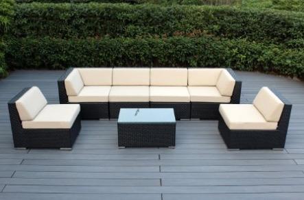 Ohana Patio Wicker Sofa Set 7 Pieces - Beige review