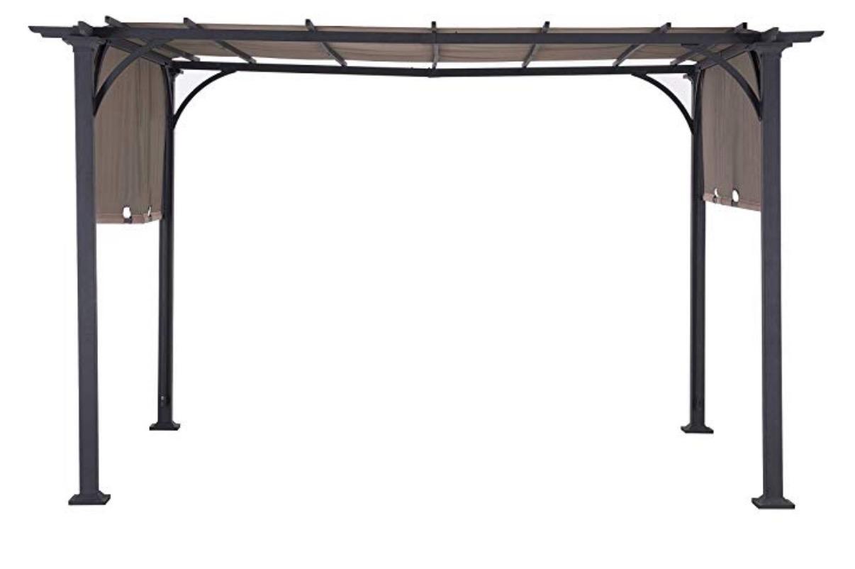 Sunjoy 110105002 Doubleton Pergola with Canopy