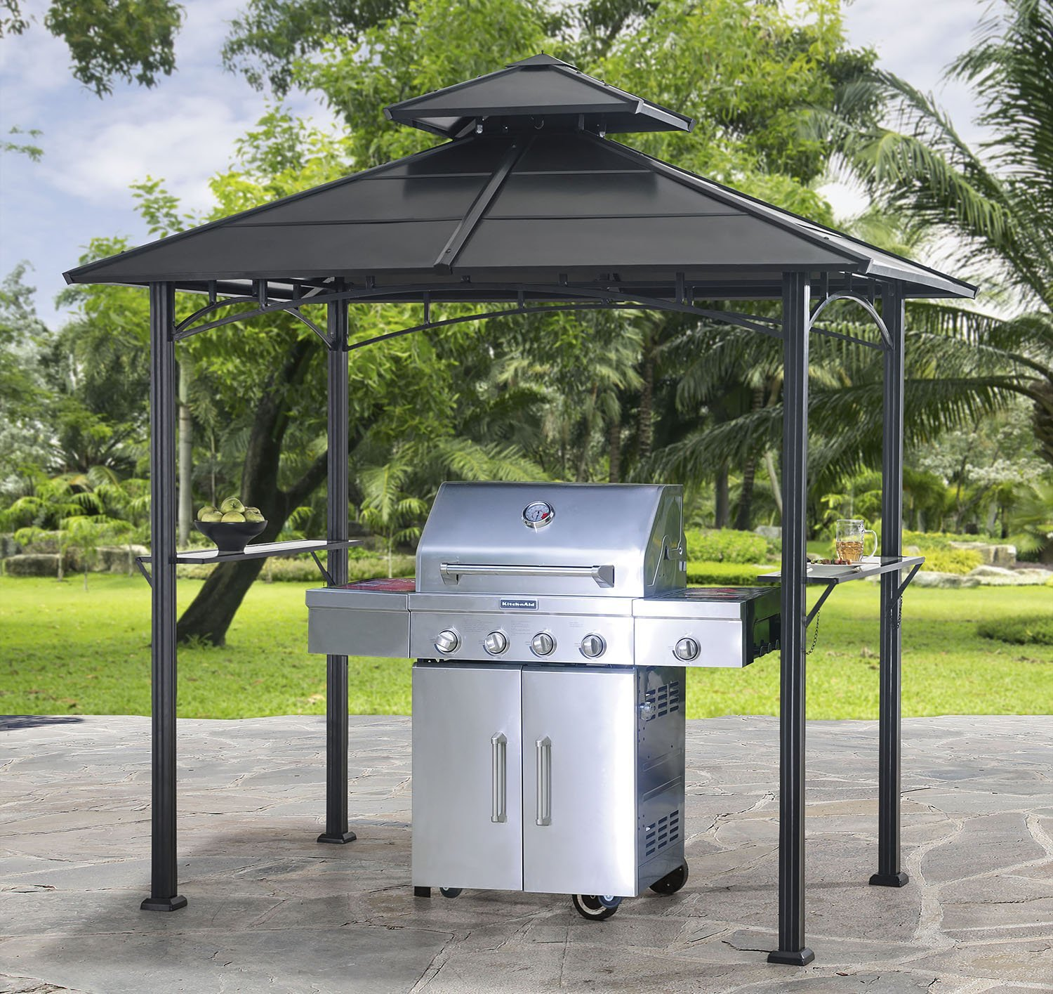 Sunjoy L-GZ238PST-10 Harper Hard Top Grill Gazebo & Our Review of the Best 7 Hardtop Gazebos