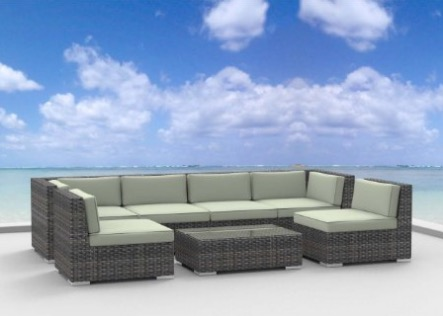 Urban Furnishing OAHU 7 Piece Wicker Rattan Patio Set review