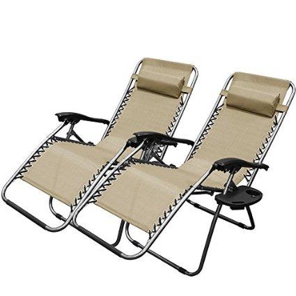 XtremepowerUS Zero Gravity Chair Adjustable Reclining Chair