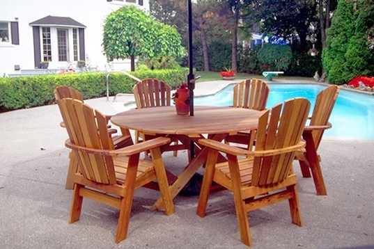 best wood patio furniture ideas