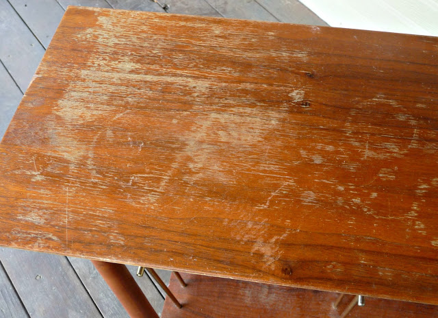 damaged wooden table