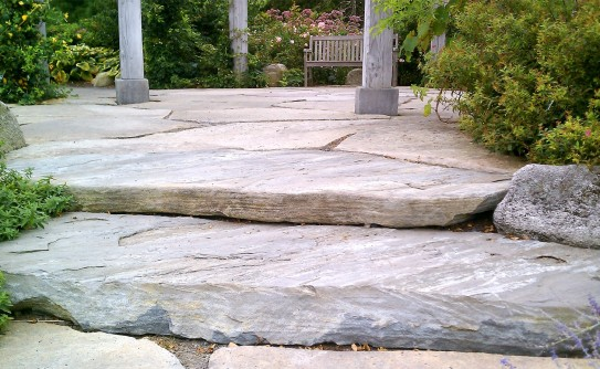 Flagstone patio ideas and info huge patio stone slabs workwithnaturefo