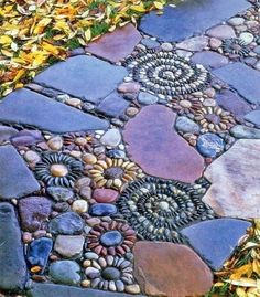 mosaic stone patio