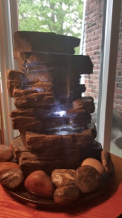 Alpine Waterfall Tabletop Fountain with LED
