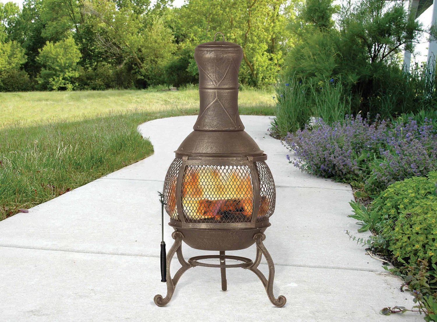 Awesome Deckmate Corona Outdoor Chimenea Fireplace Model 30075