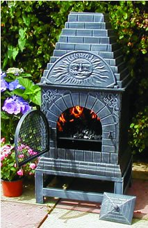 Superior The Blue Rooster Cast Iron Casita Chiminea