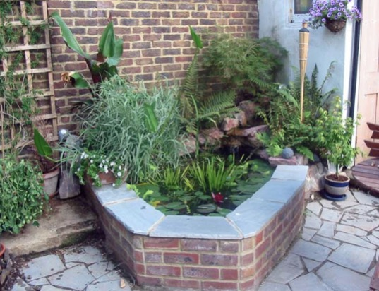 Brick Patio Pond