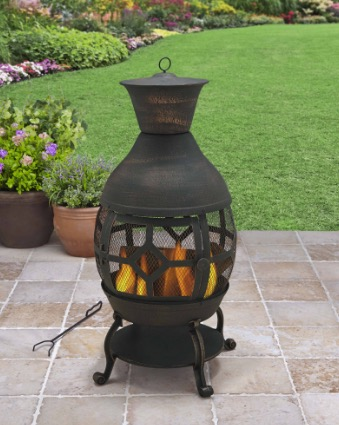 Great Better Homes And Gardens Cast Iron Chiminea Antique