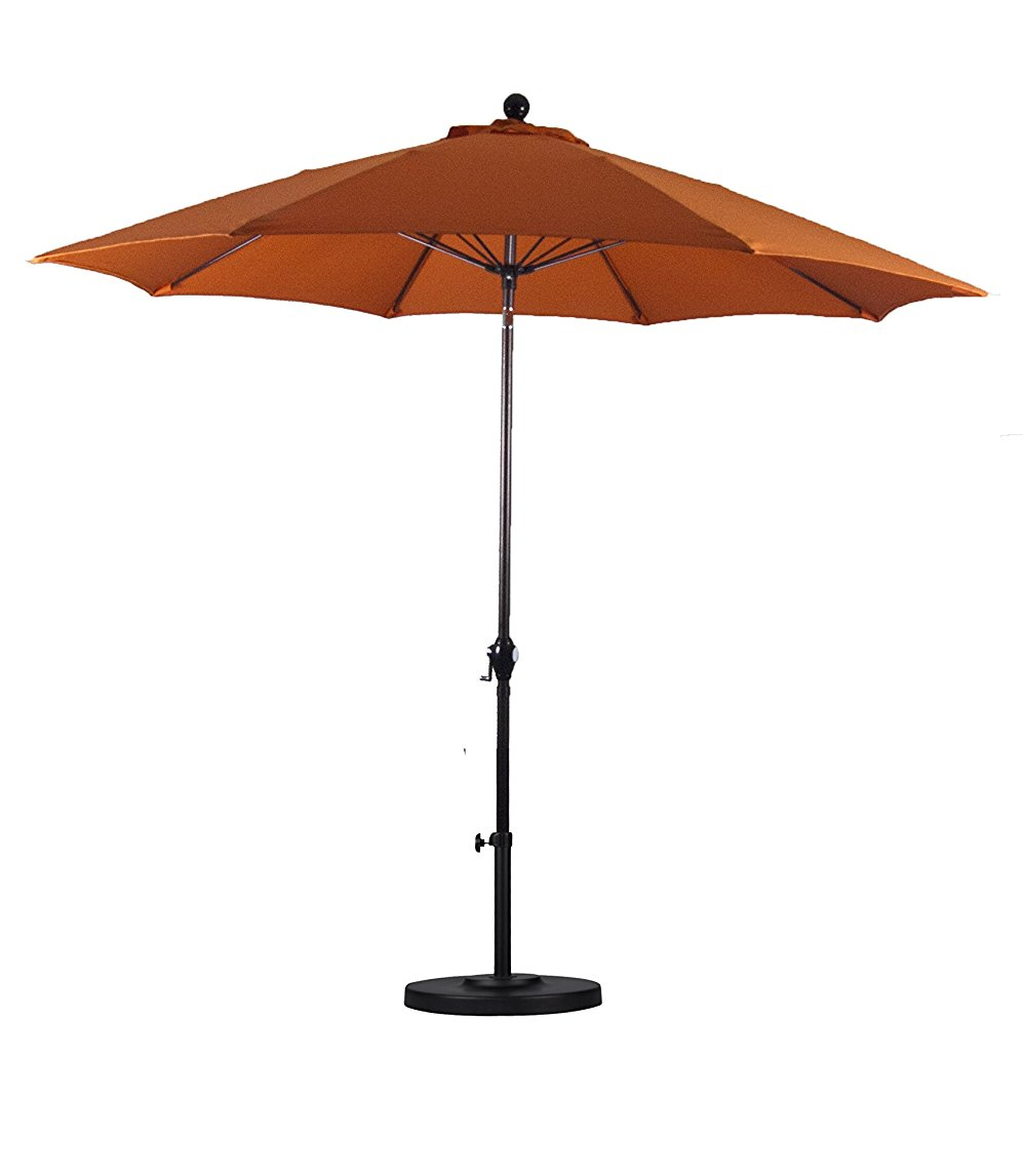 California Umbrella 9 Feet Polyester Wind Resistance Fiberglass
