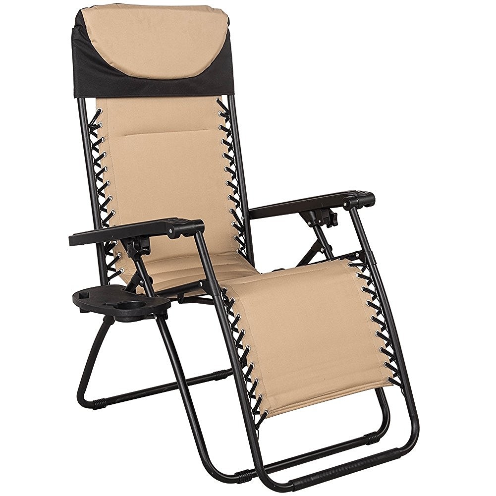 sundale-outdoor-quilted-zero-gravity-reclining-chair-with-head-pillow-and-utility-tray