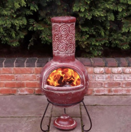 gardeco-espiral-rustic-mexican-clay-chiminea-large