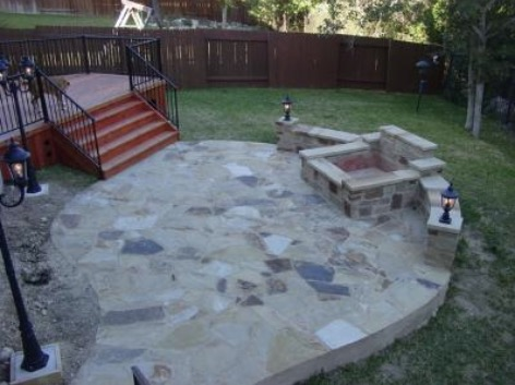Peach Flagstone Patio