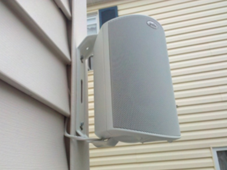 How to mount speakers to vinyl siding for Installing in wall speakers on exterior wall