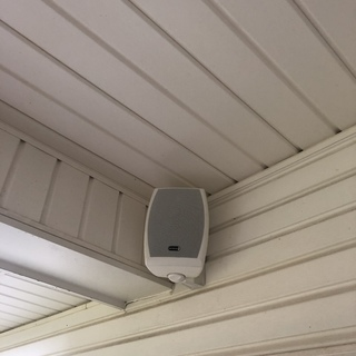 mounting speakers outdoors