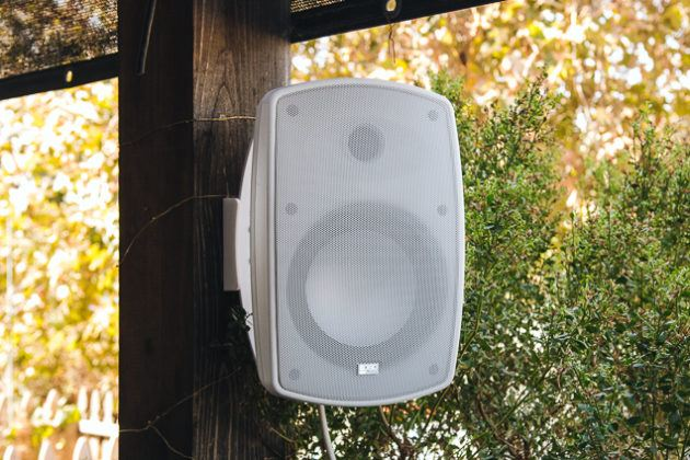 where to put speakers outside
