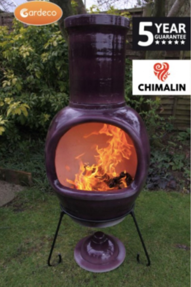 gardeco chiminea purple