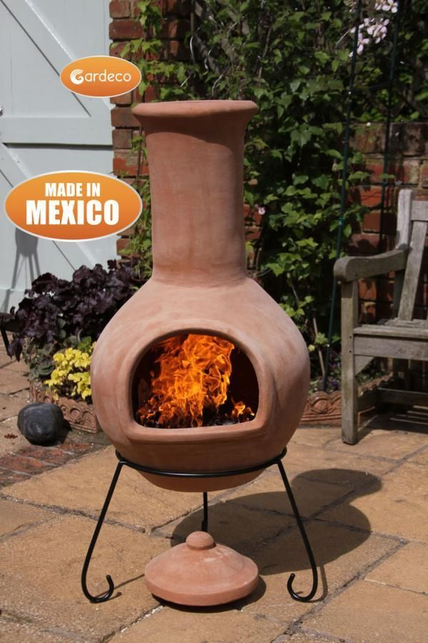 gardeco earthenware chiminea