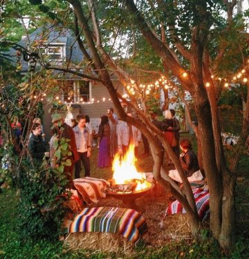 campfire party backyard
