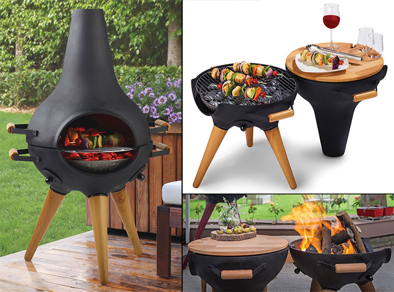 chiminea grilling food thegreenhead_com