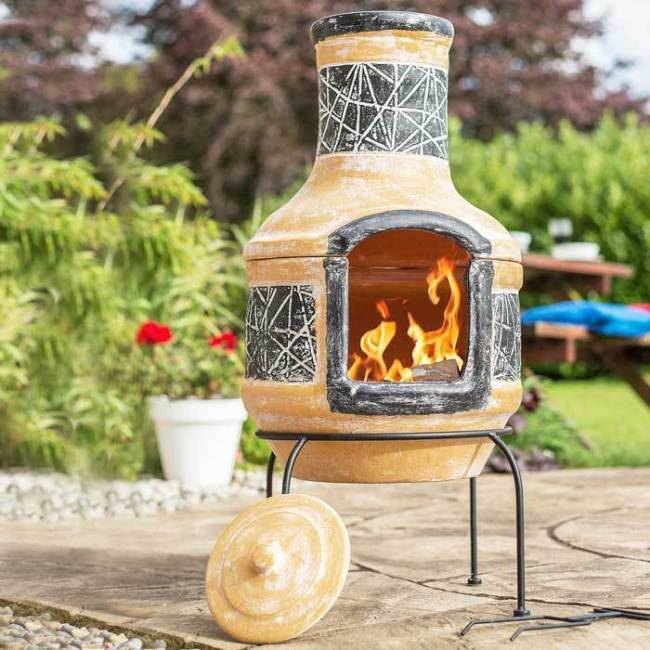 clay chiminea BBQBarbecues