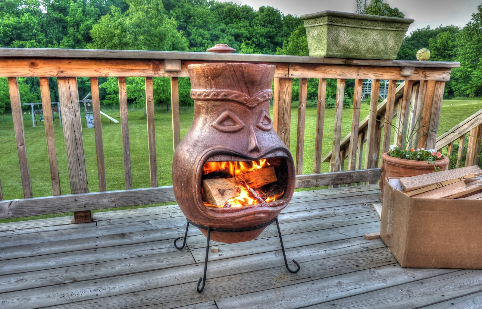 Baking in a Chiminea