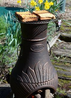 smoking grill chiminea