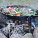 Grilling with Cast Iron in a Fire Pit