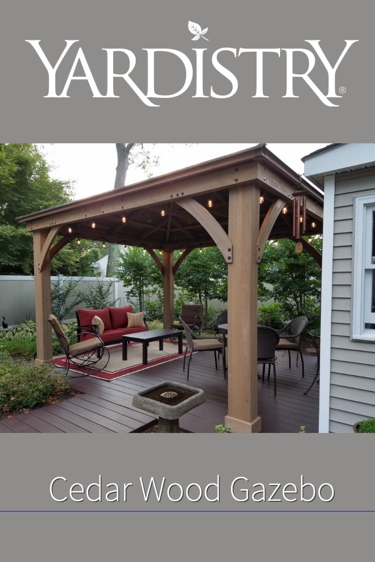 Yardistry cedar wood gazebo