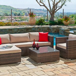 Suncrown Outdoor Furniture Sectional Sofa and Chair (6-piece Set) Review