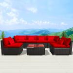 Modenzi 7G-U Outdoor Sectional Patio Furniture Espresso Brown Wicker Sofa Set Review