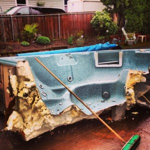 hot performed hauling full was dumpster service and rentals spa img fast tub removal eco