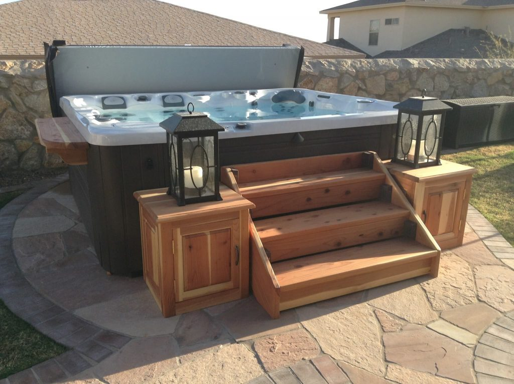 How to build hot tub steps for Steps to building your own home
