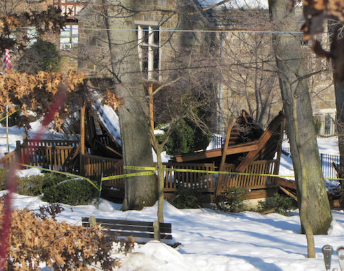 gazebo roof collapse