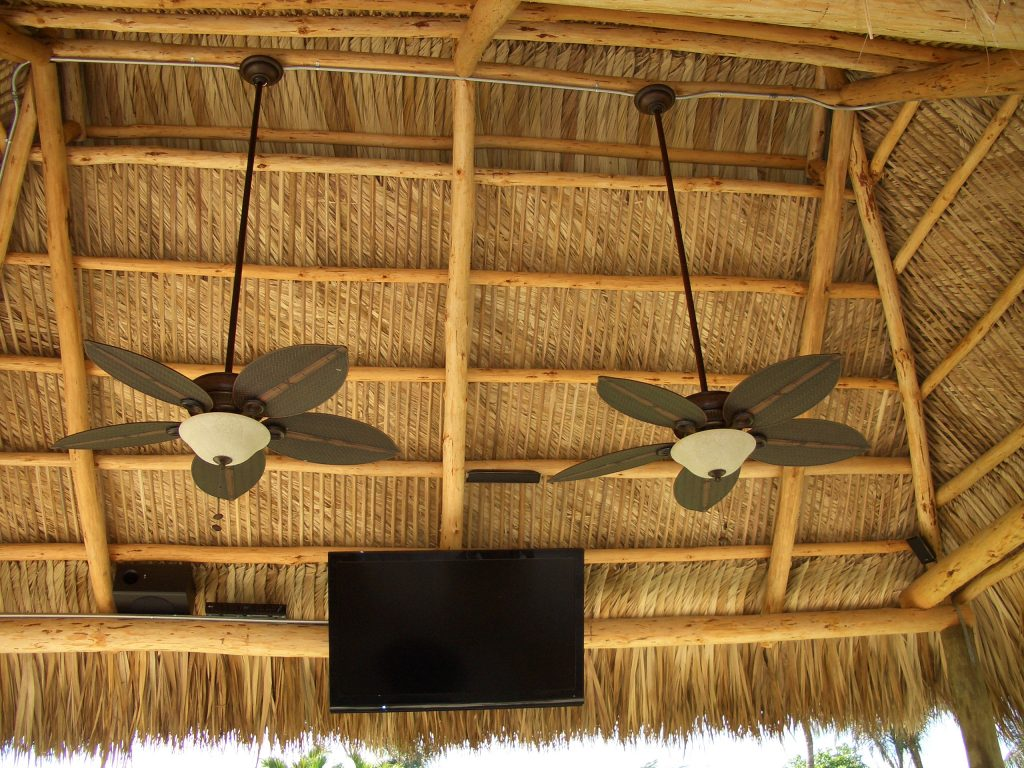 tiki hut fan