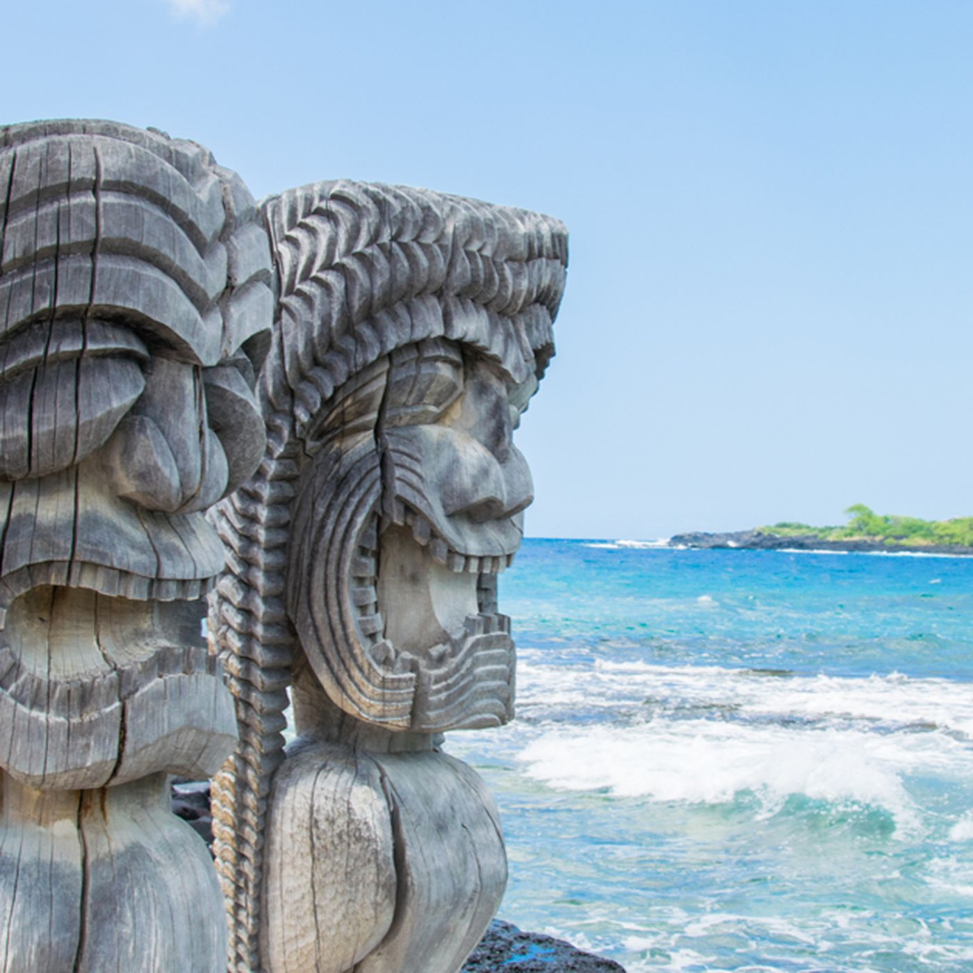 4 hawaiian tiki gods