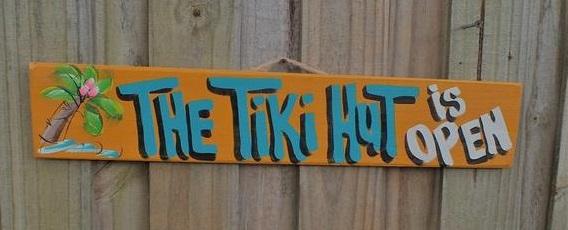 tiki hut is open